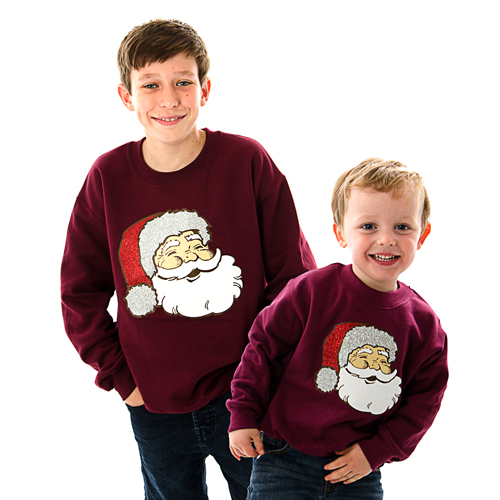 sparkle santa childrens christmas jumper