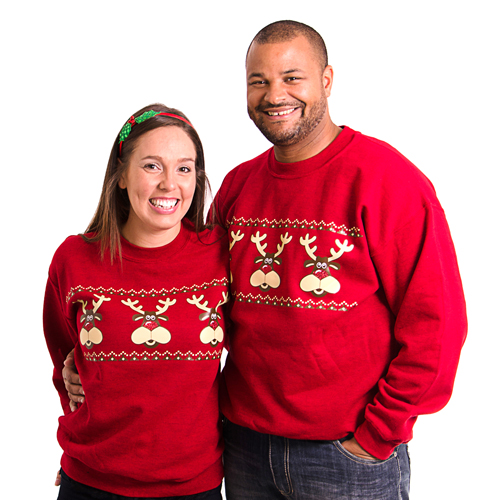 retro rudolph christmas sweatshirts