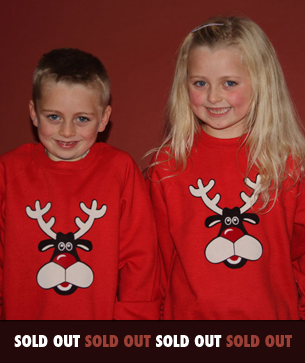 rudolph kids christmas sweatshirts