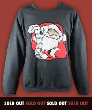santas list christmas jumpers