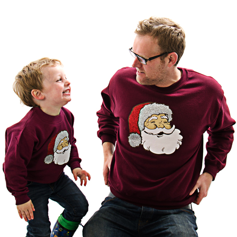matching christmas sweatshirts by cheesy christmas jumpers